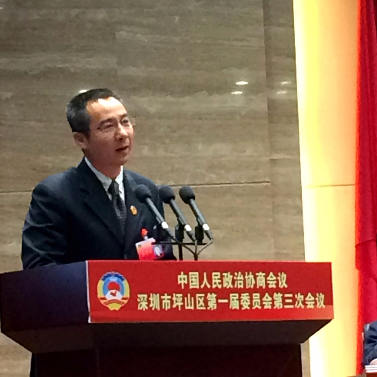 坪山政协委员姚志勇:改善聚龙花园小区生活配套